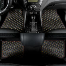 Universal Leather Car SUV Floor Mats Quilted Design Waterproof Liners Carpets