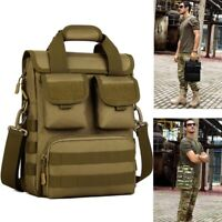 Tactical Briefcase Military 12'' Laptop Messenger Bag Shoulder Bag Men Handbags