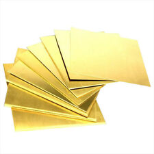 Brass Sheet Plate Thin Metal Panel Cut Tool Model Making 0.8/1/1.5/2/2.5/3/4mm
