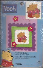 "Disney Winnie the Pooh Counted Cross Stitch Kit ""Posy Pillow"" 8"" x 8"" - NEW!"