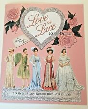 Love Of Lace Paper Dolls - Beautiful History of Lace Fashions from 1840 to 1956
