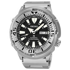 Seiko Mens SRP637 Prospex Automatic Diver Stainless Steel Black Dial Watch