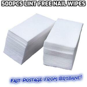 500pcs Lint Free Cotton Pads Nail Wipes Polish Remover Cleaner Manicure Paper