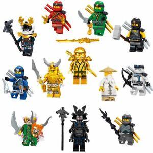 Lego Ninjago Minifigures Serpentine Lloyd Cole Jay Kai Sylor Pythor Ninja Zane