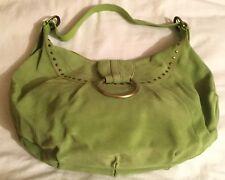 Ladies Paul Costelloe Dressage large green suede slouch shoulder handbag Bag
