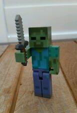 Minecraft : Zombie with Sword Action Figure (New Without Tag or Box)