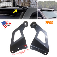 2PCS SUV Off-road Roof LED Light Strip Mounting Bracket Car Upper Bar Rack Stand