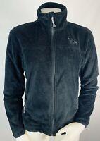 Mountain Hardwear Small Womens Fleece Fuzzy Jacket Zip Up Black Polartec