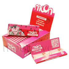 MOON Strawberry Flavor Hemp Rolling Paper 77*45mm 20 Booklets=800 leaves smoking