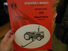 International Harvester 3110 Balanced Mower Owner Operator's Manual
