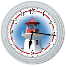 Lighthouse Wall Clock - Kitchen Home Bedroom Ocean Beach Decor - GREAT GIFT