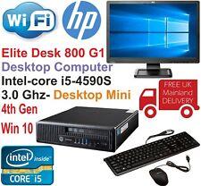 HP EliteDesk 800 G1 USFF Core i5-4590S @3.00GHz 8GB 480GB SSD Win10 PC Bundle