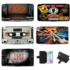 Personalised Music Samsung Phone Case Flip Cover Birthday Gift DJ Guitar Vinyl
