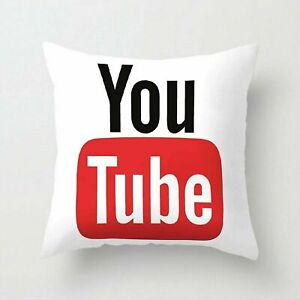 """3D Social Media Printed Cushion Cover or With Inner Decorative 18x18"""" Microfibre"""