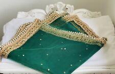 Indian Dupatta Pakistani Green Shawl for women Stole New Scarf Hijab