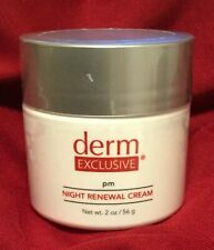 Derm Exclusive PM Night Renewal Cream 2 oz / 56g FACTORY SEALED