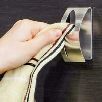 Self-Adhesive Hardware Clip Hanger Bathroom Holder Mounted Towel Wall DIY T4R7