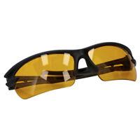 Occhiale da sole sportivo Penn unisex nero con lenti gialle