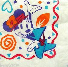 MINNIE MOUSE Vintage SMALL NAPKINS (16) ~ Disney Birthday Party Supplies Dessert