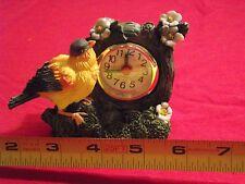 YELLOW  BIRD ALARM CLOCK WITH SECOND HAND ~ CLOCK     NEW !!!