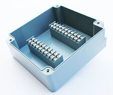 TERMINAL BLOCK ENCLOSURE, 20 POSITION, 15 AMP, IP65, 160X150X65mm, GRAY, 1011