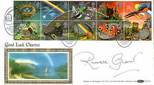 5 FEBRUARY 1991 GREETINGS BENHAM FDC SIGNED BY RUSSELL GRANT RAINBOW SHS
