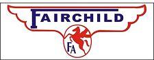 A056 Fairchild Airplane banner hangar garage decor Aircraft signs