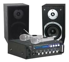 Karaoke Set Star-4 Amplifier 2 X75 W, 2 Speakers, 2 Microphones USB/SD Black
