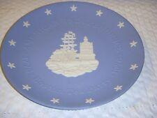 "Wedgwood Jasperware Lavender / Blue 8"" Boston Tea Party Plate 1876-1976"