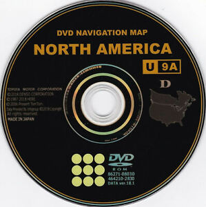 Latest Toyota 2019 Navigation Map Update DVD Gen 6 18.1 U9A 86271-GEN06-18
