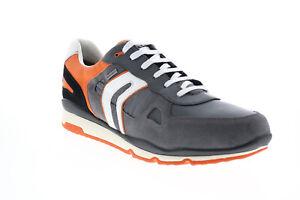 Geox U Sandford B Abx U92S7A022FUC0036 Mens Gray Suede Euro Sneakers Shoes
