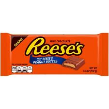 NEW SEALED GIANT MILK CHOCOLATE REESE'S FILLED WITH PEANUT BUTTER 6.8 OZ