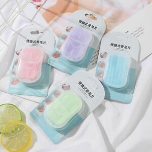 Foaming Soap Papers Cleaning Soaps Fragrant Tablets Disposable Soap Flakes