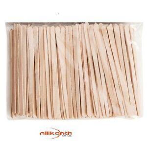 Eyebrow Small Thin Wooden Wood  Spatula Waxing Tatoo 200 Stick Summer special