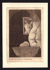 42)Nr.134-EXLIBRIS,Zbignieuw Janeczek, People without clothes,signiert,C3