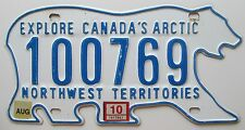 Northwest Territories 2010 POLAR BEAR License Plate NICE QUALITY # 100769