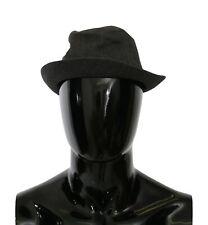 DOLCE & GABBANA Hat 100% Cotton Gray Fedora Cap Men Capello s. 58 / M RRP $300