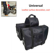 1PCS Double-strapped Flap Rear Tail Storage Saddlebag Universal For Motorcycle
