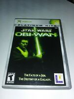 Star Wars Obi-Wan Xbox Complete Disc Is Mint 0 Scratches Very Fast Shipping