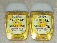 BATH AND BODY WORKS POCKETBAC ANTI-BACTERIAL HAND GEL YOU ARE MY SUNSHINE-LEMON