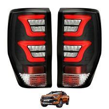 Raptor Black XO LED Rear Tail Lights for Ford Ranger T6 2016+