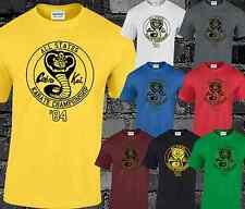 Cobra Kai Mens T Shirt Top Karate Kid Cool Movie Film Funny Fancy Dress Gift