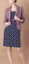 Maeve Nikola Pink Up Strapless Bow Polka Dot Dress 6 Anthropologie Black