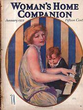 1924 Woman's Home Companion January- Rose O'Neill - Piano Player; Edna Ferber