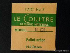 Jaeger LeCoultre Pallet Arbor Cal 460-490-90L Part # 714 (7) New Old Stock