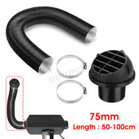 75mm Heater Pipe Duct & Warm Air Outlet & Hose Clip For Diesel Heater Webasto