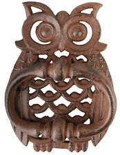 Unusual Owl Door Knocker Large Traditional Vintage Style Cast Iron FREE POSTAGE