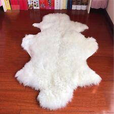 Genuine Sheepskin Fluffy Fur Rug Windward Single 100% Natural Ivory Soft Fashion