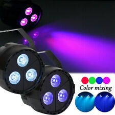 2PCS 15W RGB DMX 3LED Par Stage Lighting Disco Party Club DJ  Show Wedding Light