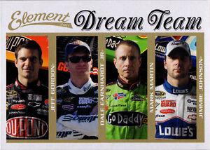 2010 Press Pass Wheels Element Dream Team Jeff Gordon Dale Earnhardt Jr Johnson